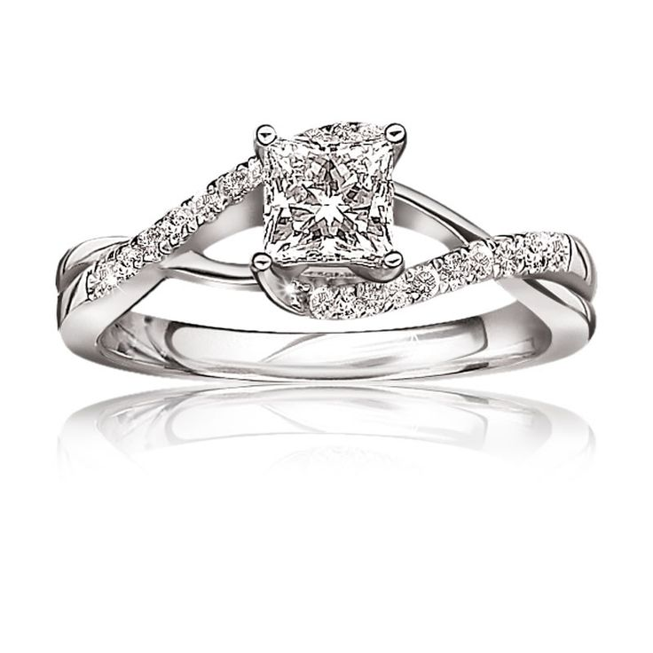 Nice Infinity Princess Cut Engagement Ring ct T W