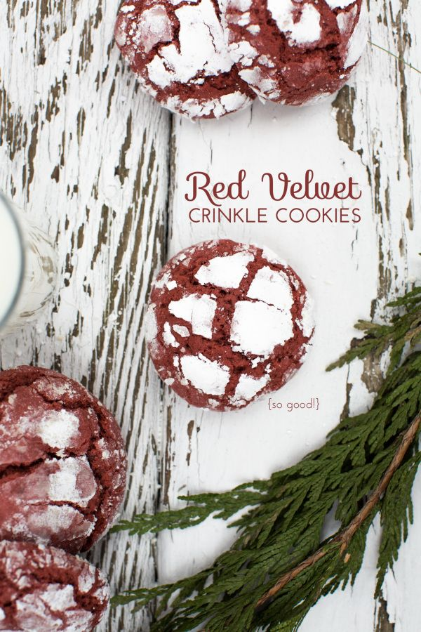 From the kitchen: Red Velvet Crinkle Cookies