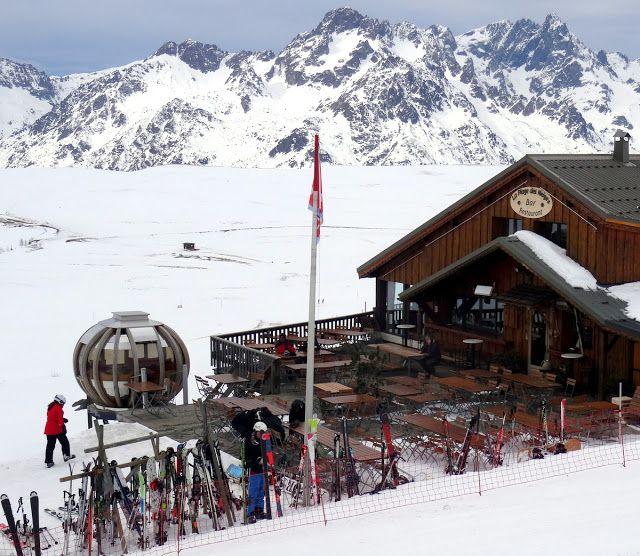 Alpe d'Huez, French Alps: La Plage des Neiges Bar Restaurant | Travel and Lifestyle Diaries Blog