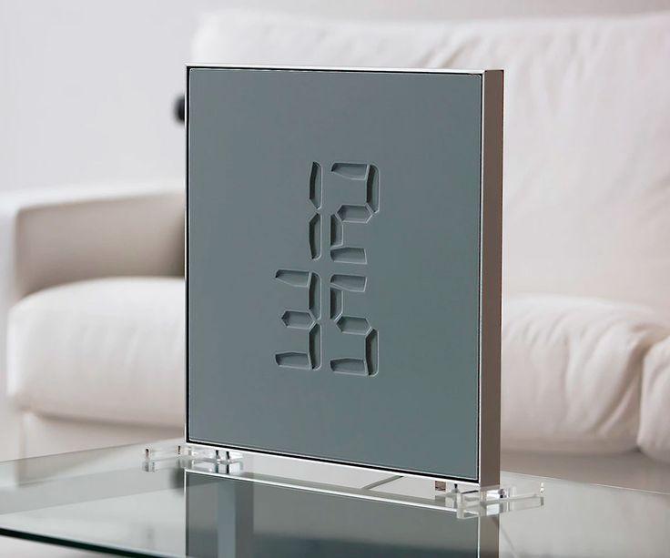 Etch Morphing Digital Clock   DudeIWantThat.com