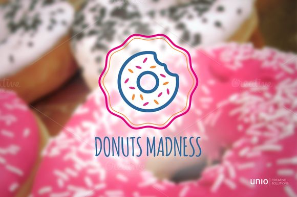 Donuts Logo by Unio | Creative Solutions on Creative Market