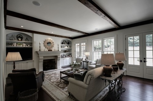 wall of windows to south and door to deck?: Families Rooms Furniture, Rooms Layout, Living Rooms, Layout Design, Castro Design, Rooms Ideas, Families Rooms Design, Design Studios, Traditional Families Rooms