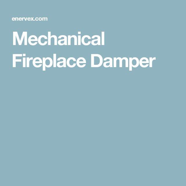 Mechanical Fireplace Damper