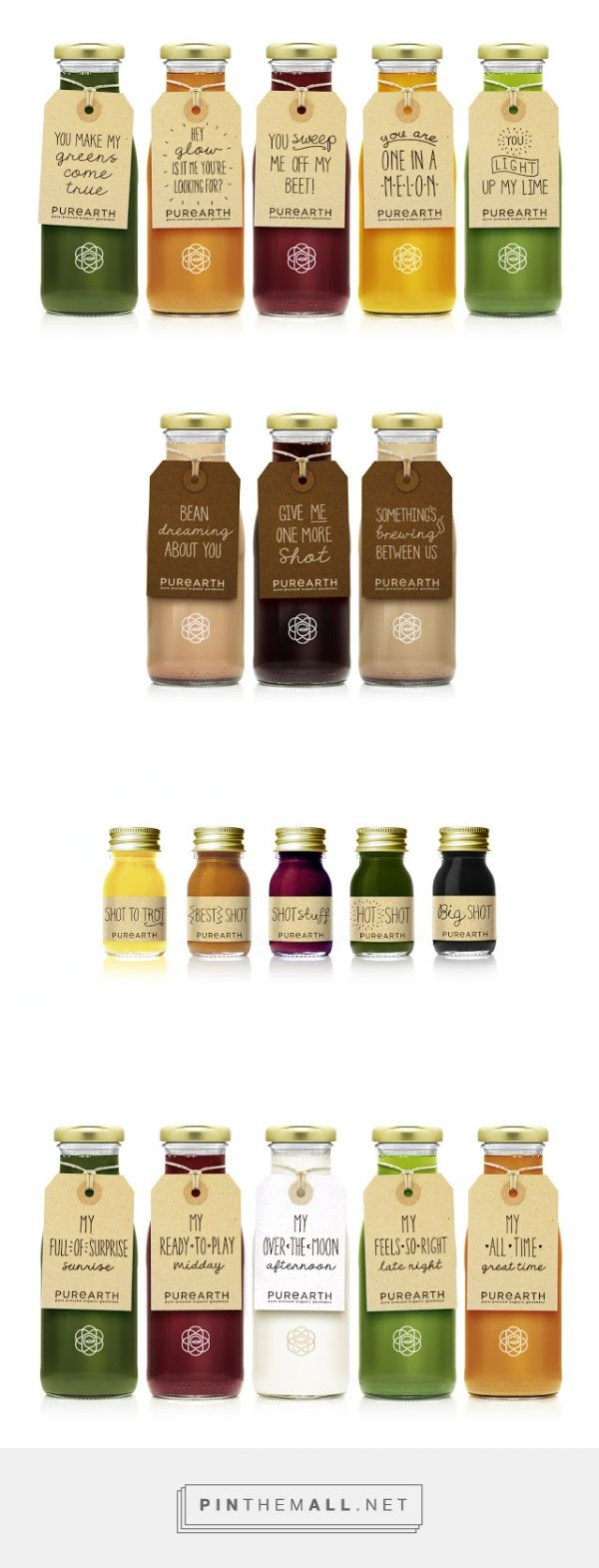 Purearth #juice #packaging designed by Afterhours - http://www.packagingoftheworld.com/2015/03/purearth.html