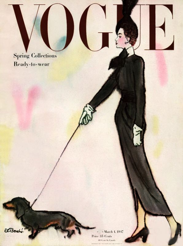 Vogue Cover March 1947 - Spring Collections