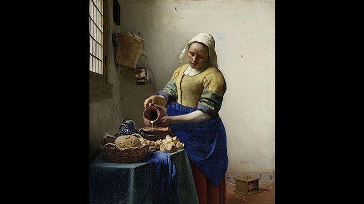 Johannes Vermeer «La Laitière», huile sur toile, vers 1658. Crédits: Amsterdam, Rijksmuseum.