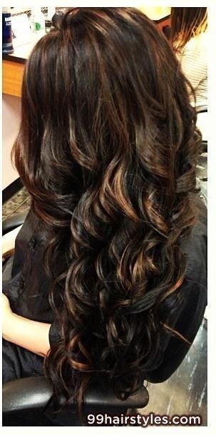 dark brown curly hairstyle - 99 Hairstyles Ideas