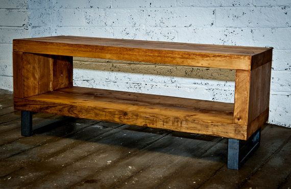 Chunky Industrial TV console  TV stand  Coffee by BenmoreStudio
