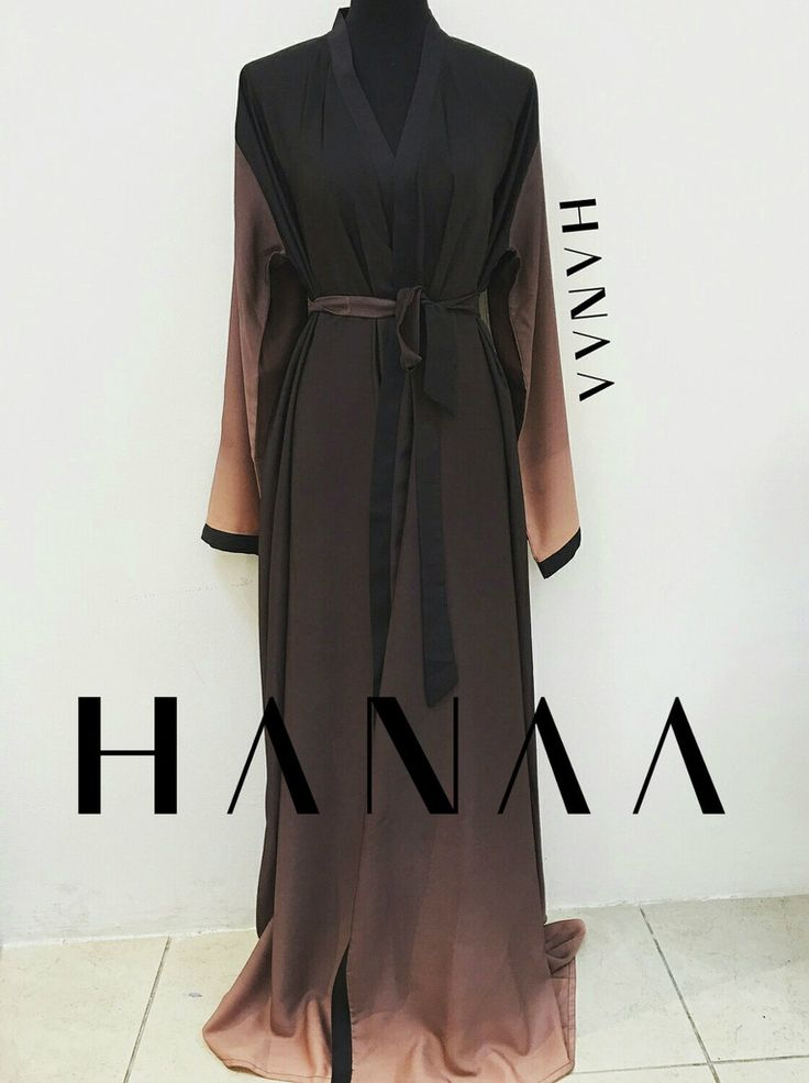 Wow! I absolutely love the ombre look with abayas. Need to buy one ♡♡♡ #hijab #abaya