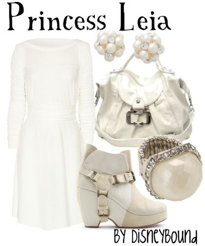 Star Wars: Princess Leia inspired outfit by Disneybound at: http://disneybound.tumblr.com/