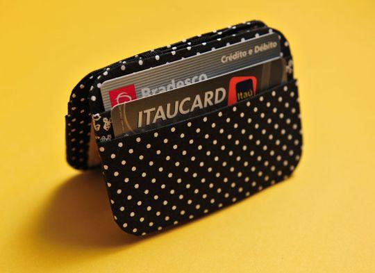 Porta cartão de tecido