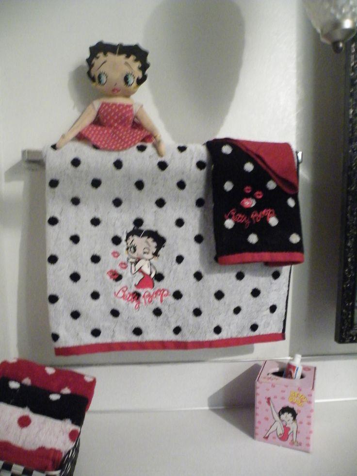 betty boop bathroom embroidery sew betty boop