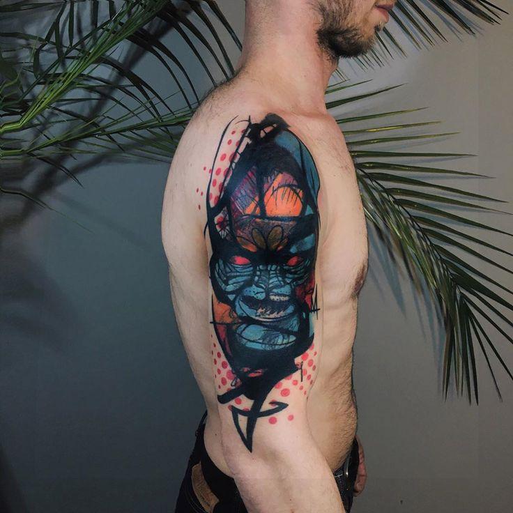 Coverupfinalpartabstracttattoo tattoo tattooart
