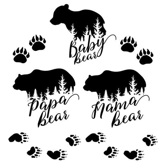 Mama Bear Svg Bundle Bear Family Papa Bear Baby Bear Svg Png Etsy In 2020 Papa Bear Baby Bear Mama Bear Papa Bear