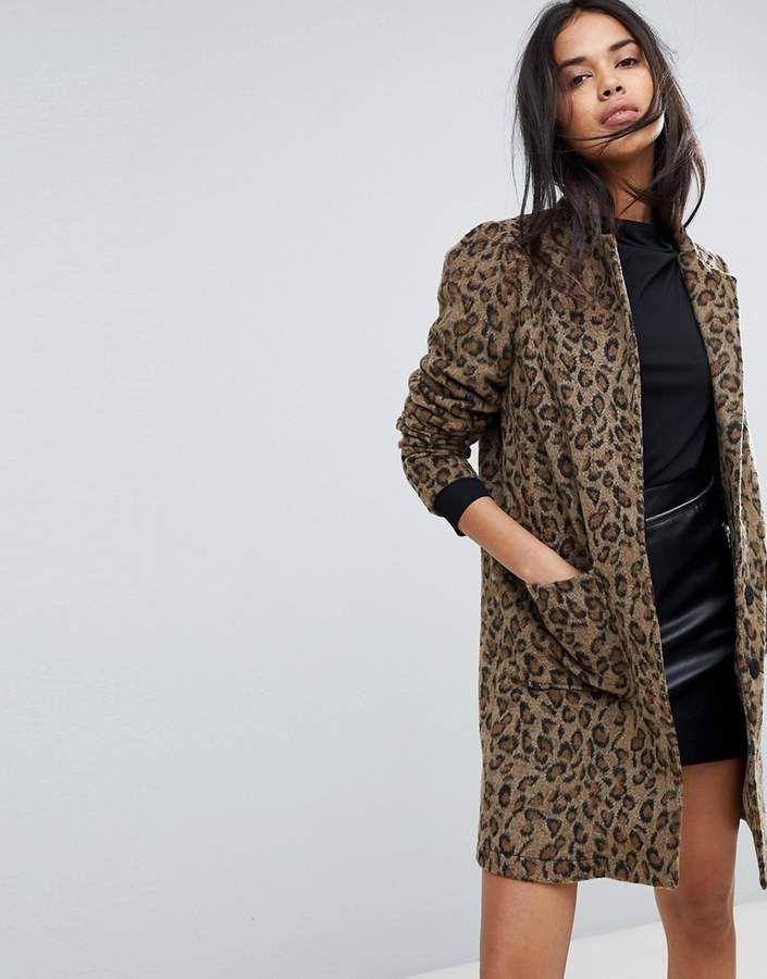 07e240fa6e6c Y.A.S Leopard Print Coat
