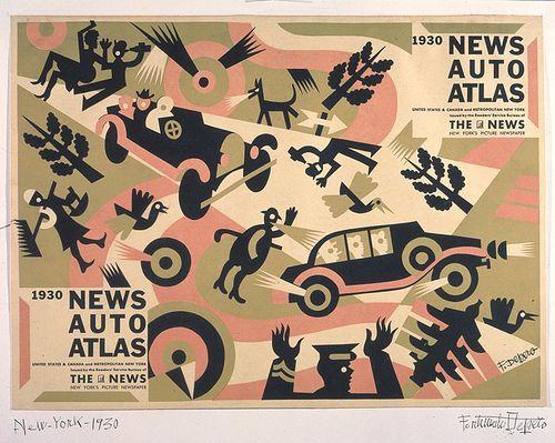 Fortunato Depero, New Auto Atlas, 1930