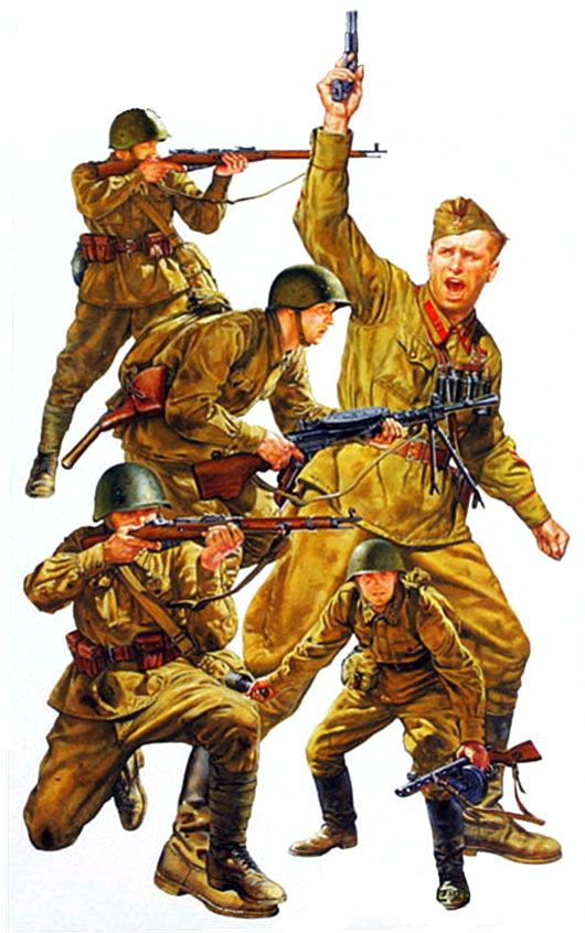 Russian front line infantry