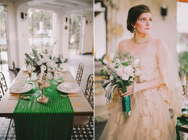 Lavished — A Bride and Breakfast Emerald and Gold Editorial | http://brideandbreakfast.ph/2014/08/05/lavished-emerald-gold-editorial/