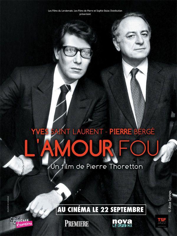 """""""Yves-Saint Laurent & Pierre Bergé, L'Amour Fou"""", un documentaire de Pierre Thoretton présentant de nombreuses archives entrecoupées d'entretiens avec Pierre Bergé (09/2010)"""