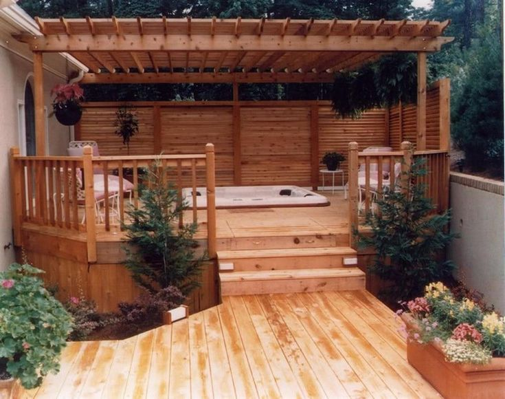 32 beautiful outdoor hot tub privacy ideas hot tub on classy backyard design ideas may be you never think id=80456