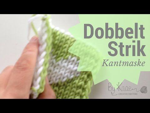 Dobbelt strik, lær at strikke mønster - YouTube