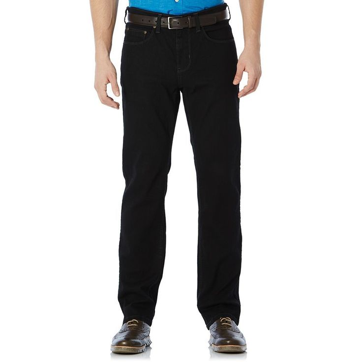 Big & Tall Savane Straight-Fit Active Flex Denim Pants, Men's, Size: 40X36, Grey