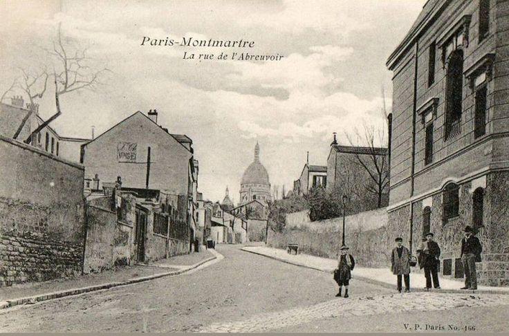 La paisible rue de l'Abreuvoir vers 1900.