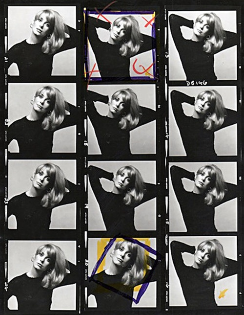 catherine deneuve contact sheets by david bailey