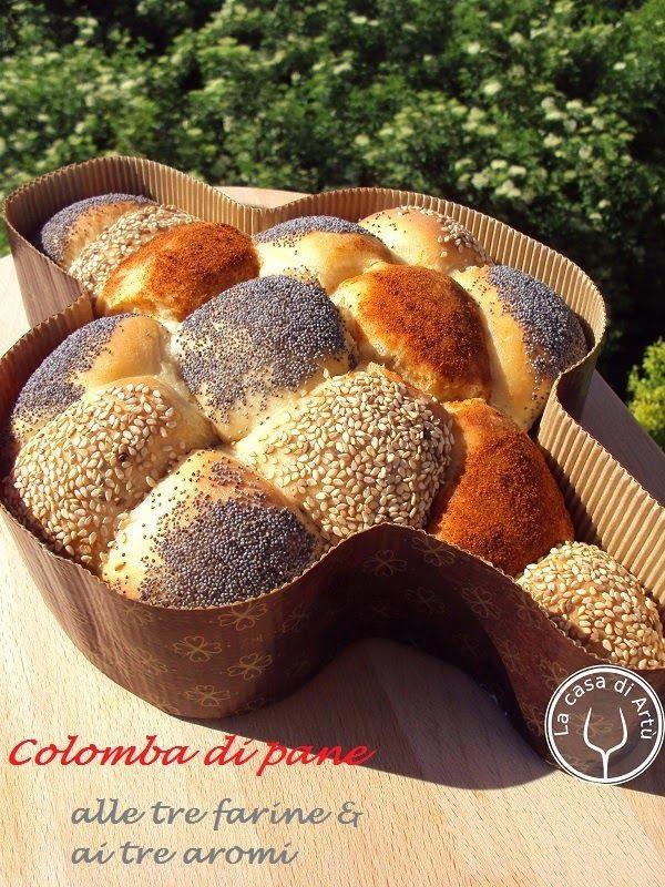 Colomba di pane o Pan Colomba alle tre farine e tre aromi