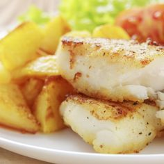 This baked cod recipe is first pan fried so it gets nice and brown and then baked with refreshing lemon and paprika.. Baked Cod Recipe from Grandmothers Kitchen.