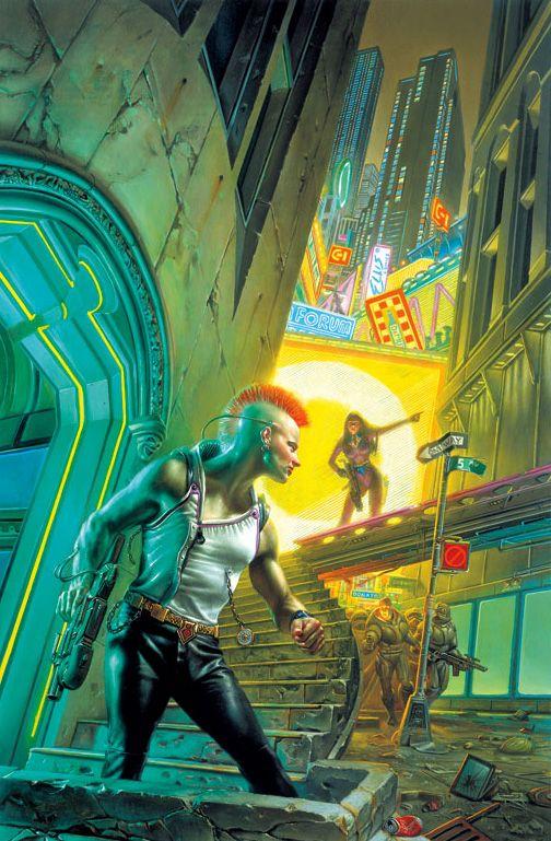 """Cyberpunk 2020: Ravengers""   © 1994 Donato Giancola"