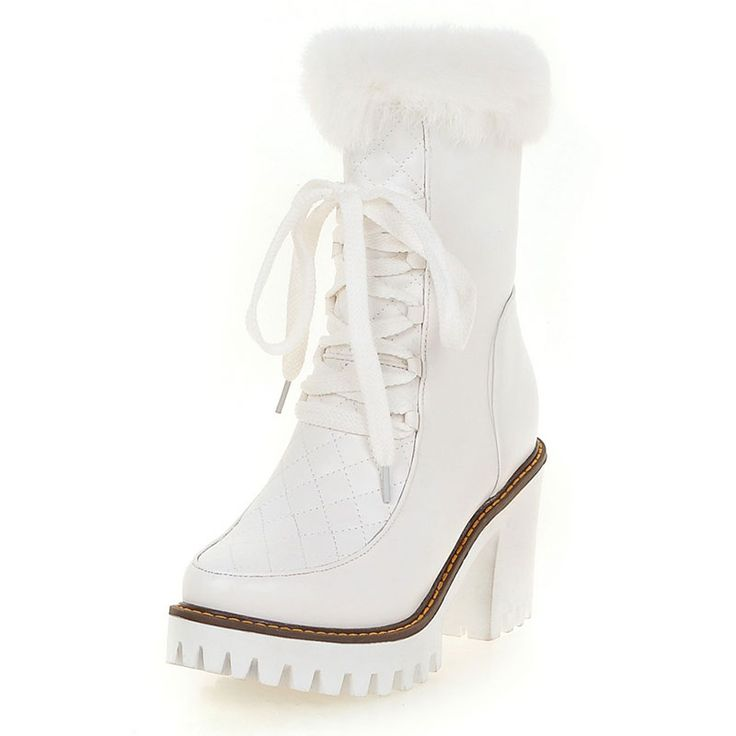 Cheap women winter shoes, Buy Quality white fur boots directly from China fashion fur boots Suppliers: 2016 new arrival ankle boots women white fur boots fashion ladies boots plus size 43 women winter shoes high heels shoes ZT1253