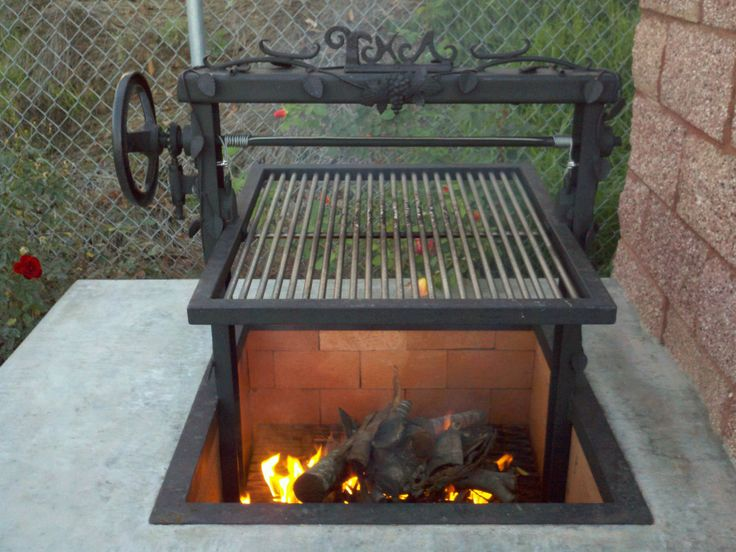 Santa maria grills grilling and barbecue pinterest for Easy diy fire pit with grill
