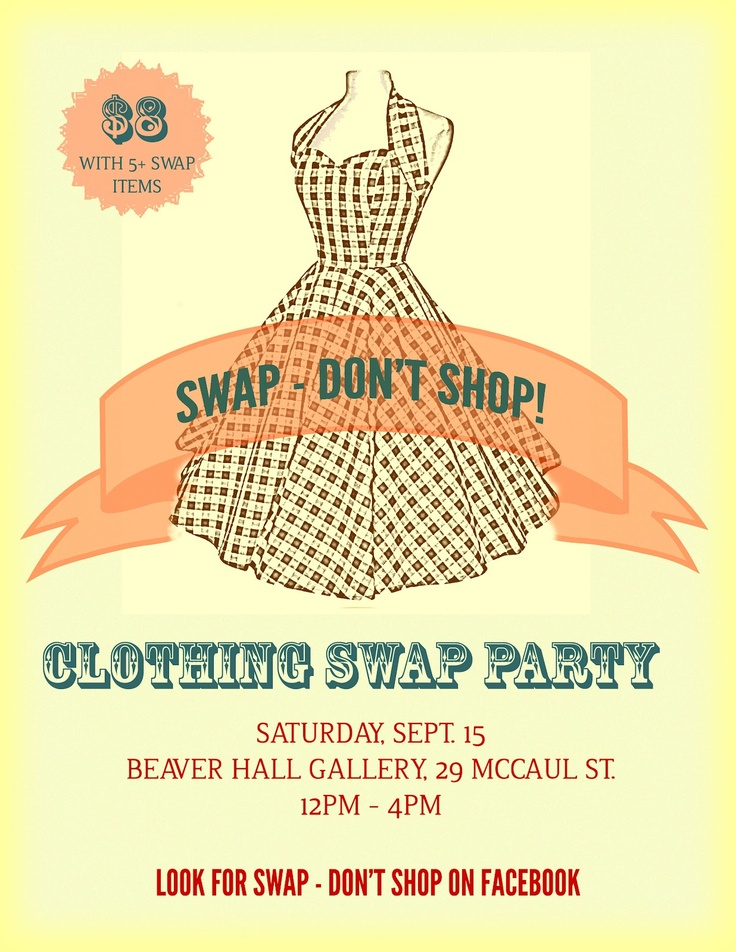 69 best Clothing swap parties images on Pinterest | Clothing swap ...