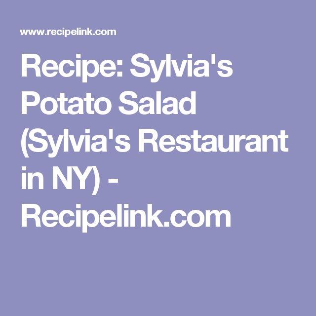 Recipe: Sylvia's Potato Salad (Sylvia's Restaurant in NY) - Recipelink.com