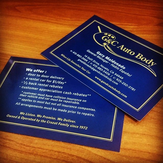Basically serving as an over-sized business card, these rack cards provide merchants and customers contact info and service information.