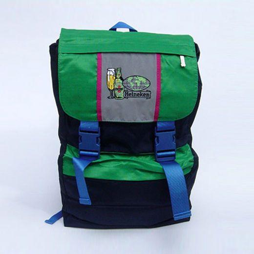 Zaino scuola viaggio Birra Heineken borsone verde regolabile collezione regalo