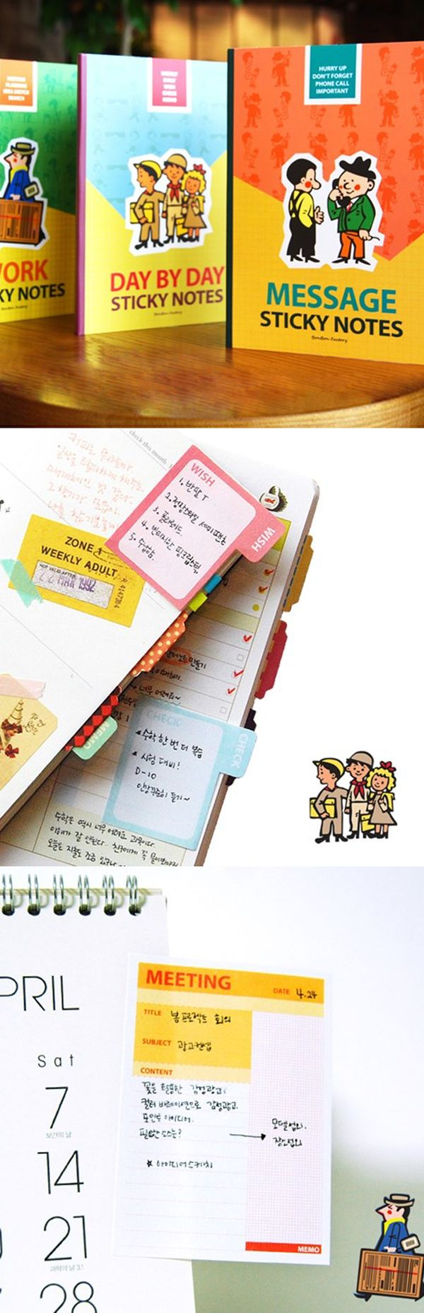 Here are sticky notes for any kinds of situation! Take your pick and see what kind of notes you can leave to yourself or others. The Schedule Sticky Notebook will make sure you won't forget with its vibrant colorful presentation.