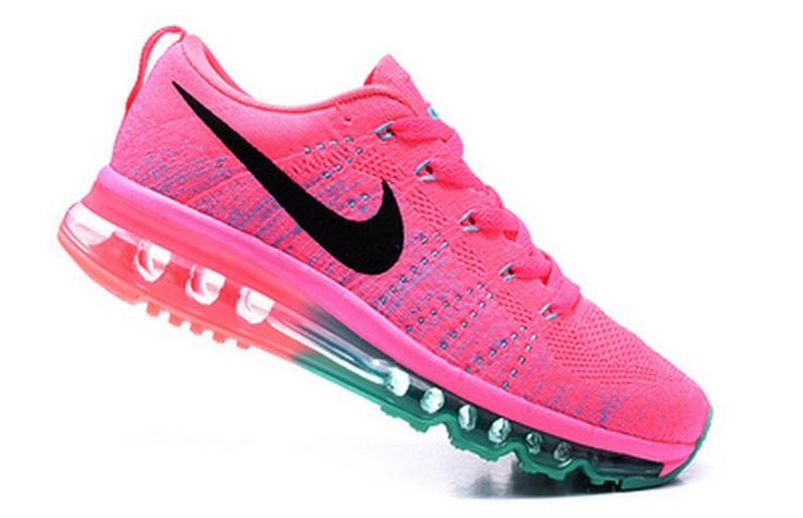 Nike Flyknit Air Max Women Pink Shoes