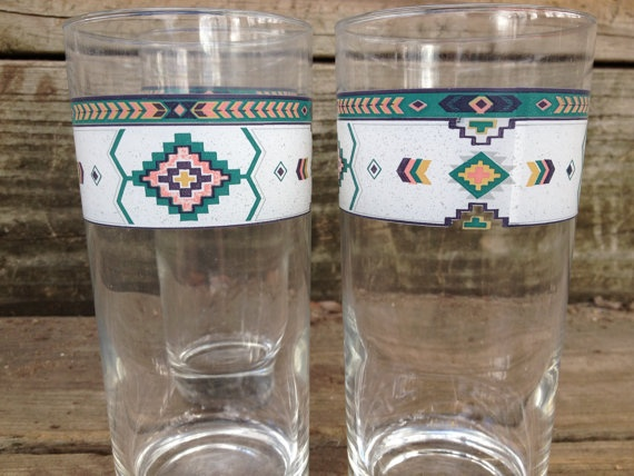 Vintage 1970s geometric native design by AfterWhileCrocodile, $16.00
