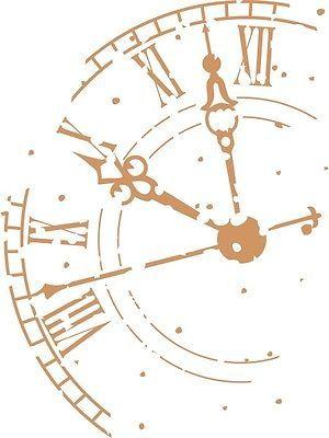 Wandtattoo  Uhr Shabby chic, Nostalgie, Vintage, Oldschool bis 152 cm XXL