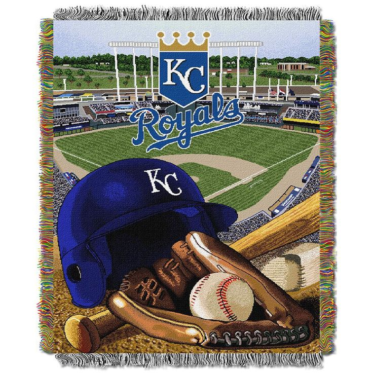 Kansas City Royals MLB Woven Tapestry Throw (Home Field Advantage) (48x60)