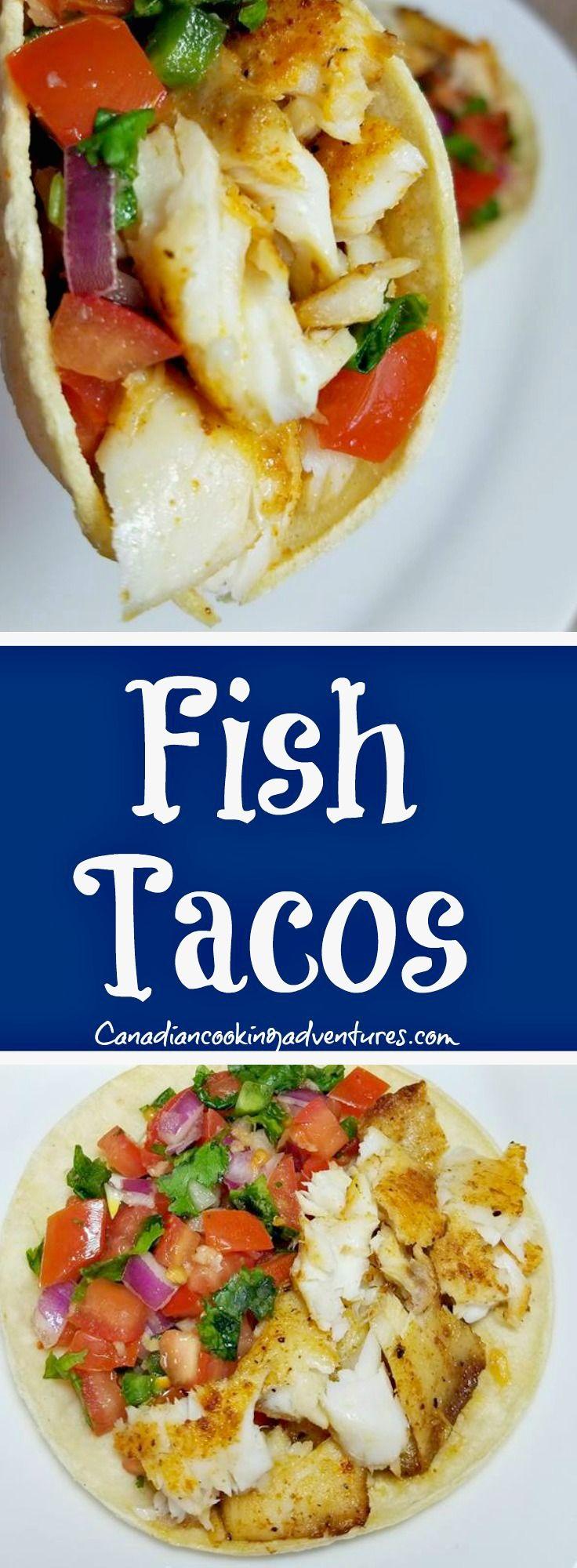 Fish Tacos #fish #tacos #taco #tilapia #picodegallo #salsa #mexican #seafood #tortilla