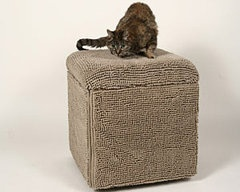 Here's the piece of furniture made with fabric that was made for your cat to scratch up! Brilliant!: Pet Architecture, Pet Stuff, Pet Architechtur, Crazy Cat, Divas Worthi Pet, Pet Habitats
