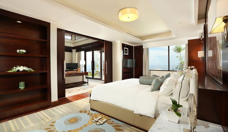villa bedroom with panoramic ocean view