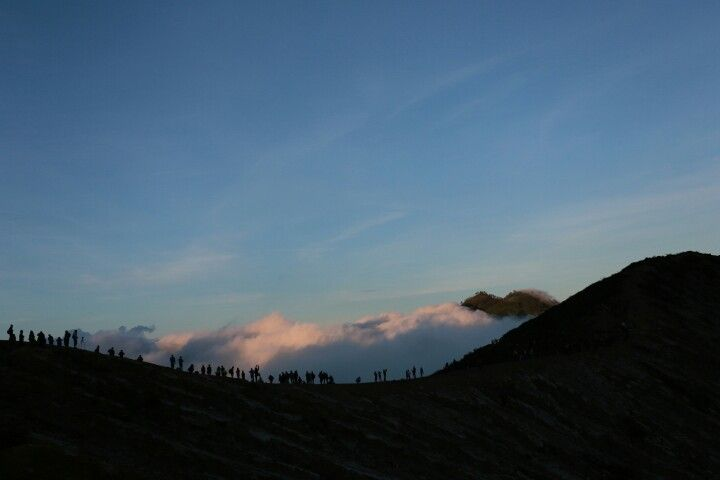 Chasing sunrise at kawah ijen