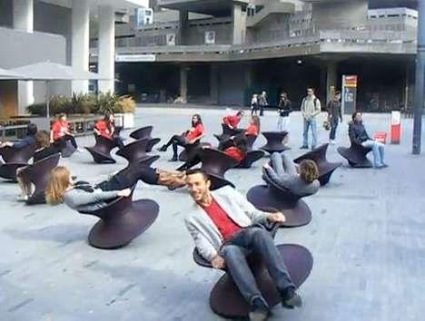 Adult Playground Installations - Thomas Heatherwick puts his 'Spun' Chair to Artistic Use