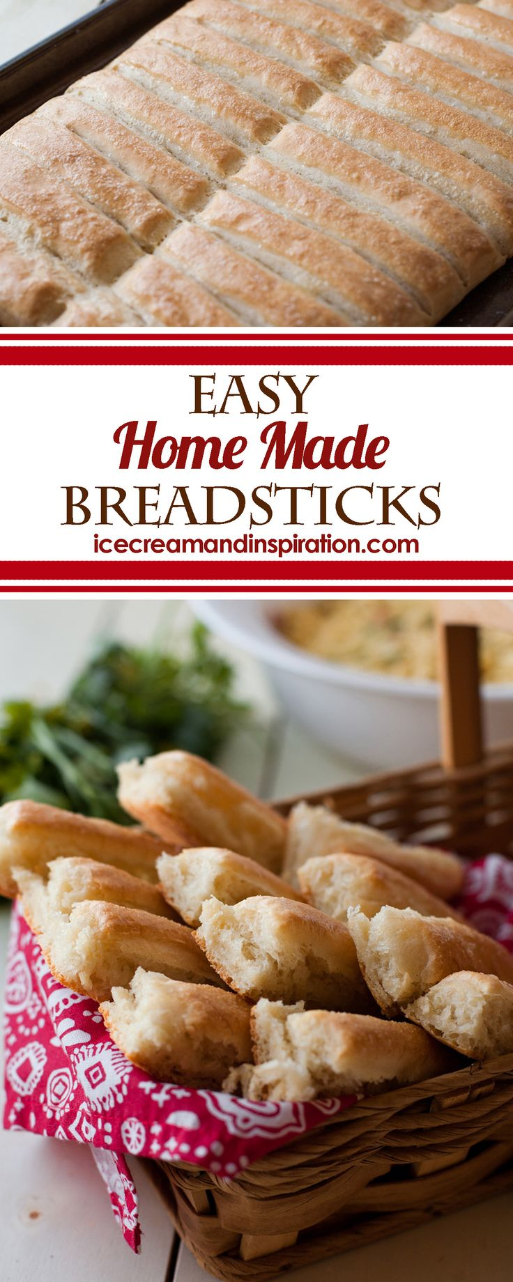 These Easy Home Made Breadsticks can be piping hot and on your table in just an hour. They're perfect breadsticks that your whole family will love!