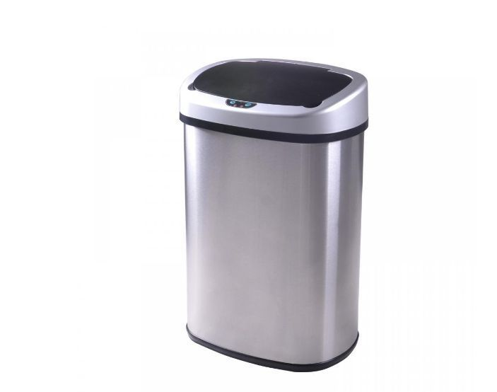13-Gallon Stainless Steel Garbage Waste Trash Can Touch free Sensor Automatic  #BestOffice
