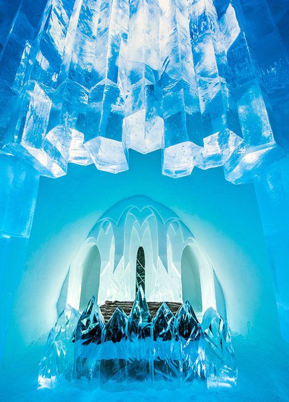 Icehotel, un hotel de hielo y de diseño en #Suecia que a partir de ahora se podrá disfrutar los 365 días del año. #hoteles #hotelesdehielo #viajes #travel